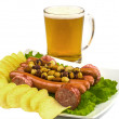 "Snack to beer ""cart"" — Stock Photo"