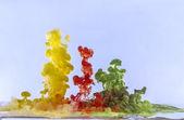 Abstraction gouttes de couleur — Photo