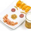 Beer snack Smile — Stock Photo