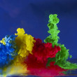 Stock Photo: Movement of colored liquid