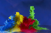 Movement of colored liquid — Stock Photo