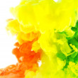 Liquid color in motion-abstraction — Stock Photo