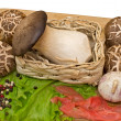 Mushrooms, salad, spices - Stock Photo