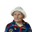 The old woman sadly recalls - Stock Photo