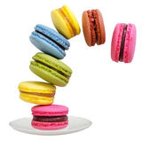 Macaroons on a saucer — Stock Photo