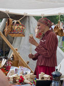 Historical Festival in Moscow park Kolomenskoe. — Stock Photo