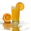 Orange juice, reflection, wave — Stock Photo