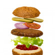 Stock Photo: Unassembled burger