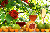Wine and fruit — Stock Photo