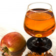 Stock Photo: Apple and wine