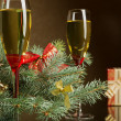 Stock Photo: Champagne for Christmas
