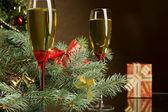 Champagne for Christmas — Stock Photo