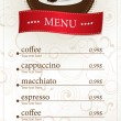 Stock Vector: Coffee shop menu card