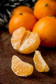 оранжевые мандарины — Стоковое фото