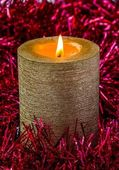 Gold candle — Stock Photo