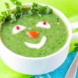 ������, ������: Funny healthy soup with spinach for children