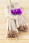 Buğday noodle bamboo tablo bölümü — Stok fotoğraf