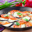 Stock Photo: Grilled Italiappetizer of vegetables, mozzarelland basil