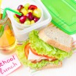 Bento lunch for your child in school, box with a healthy sandwic — 图库照片
