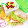 Bento lunch for your child in school, box with a healthy sandwic — ストック写真