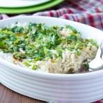 ������, ������: Rice casserole with egg green spring onions cilantro chili a