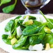 Green salad with spinach, white fish and avocado, dietary food — Stock Photo #39683785