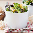 Potato salad with green beans, olives, capers, onions, delicious — Stock Photo #44125711