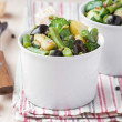 Potato salad with green beans, olives, capers, onions, delicious — Stock Photo #44125715