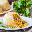 ������, ������: Oriental shah pilaf pilaw plov rice with meat in filo