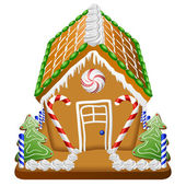 Gingerbread house with candies — Stock Vector