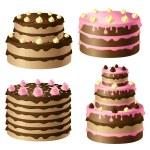 Birthday cake — Stock Vector #15771121