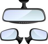Car mirror set — Stock Vector
