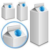 Milk carton set — Stock Vector