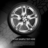 Shiny car wheel — Stock Vector