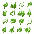 Royalty-Free Stock Vector Image: Leaf icon set
