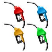 Fuel nozzle set — Stock Vector