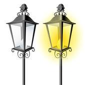 Old vintage street lamp — Stock Vector