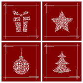 Abstract Christmas cards — Stock Vector