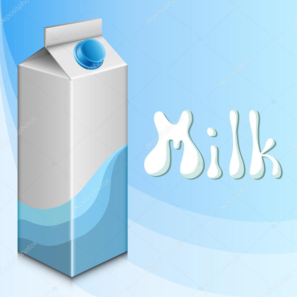 Blue background with milk carton eps10 — Vektorgrafik #16492041