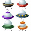 Royalty-Free Stock Vector Image: Cartoon ufo set