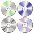 Realistic CD set - Image vectorielle