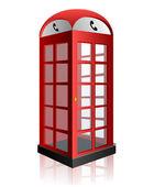 红色电话亭 — 图库矢量图片