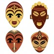 African mask set — Stock Vector