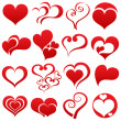 Heart symbol set — Stock Vector
