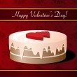 Valentines Day greeting card with cake — Stock Vector #19051551