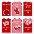 Stock Vector: Valentines day card set