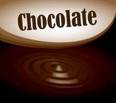 Chocolate splash text frame — Stock Vector