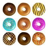 Donut set — Stock Vector