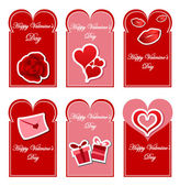 Valentines day card set — Stock Vector