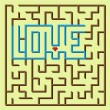 Love labyrinth game — Stock Vector